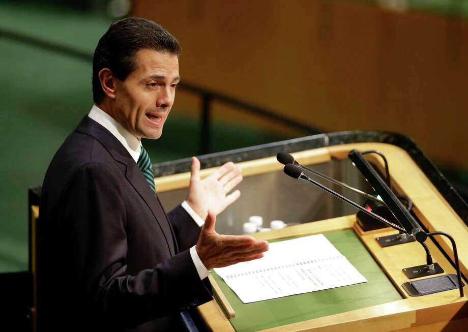 Mexican President Enrique Peña Nieto's approval rating stands at 35 percent, his lowest level ever, and 63 percent of citizens believe that the country is headed in the wrong direction. Photo: Seth Wenig /Associated Press / AP