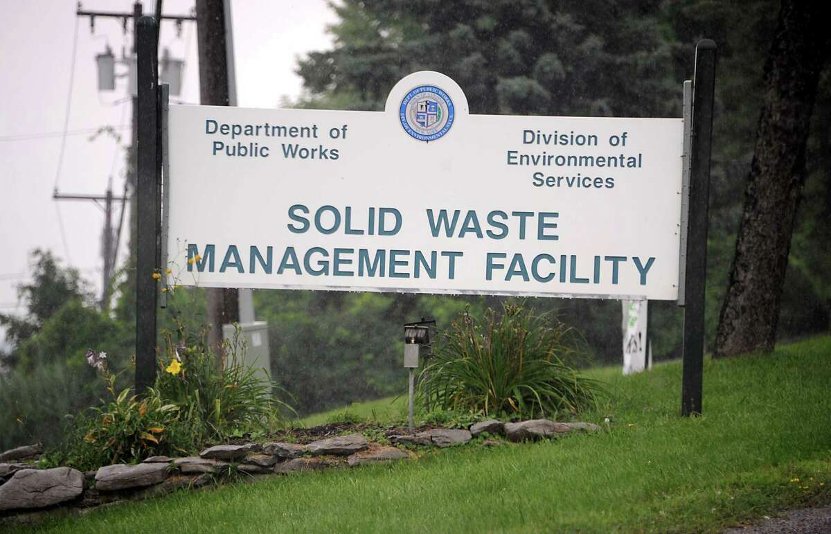 Sign in front of the Colonie Landfill on Tuesday, Aug. 5, 2014 in Colonie, N.Y. (Lori Van Buren / Times Union archive)