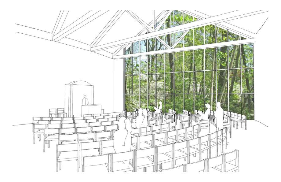 A rendering showing the view from Greenwich Reform Synagogue's planned sanctuary. Photo: Contributed / Contributed Photo / Greenwich Time Contributed