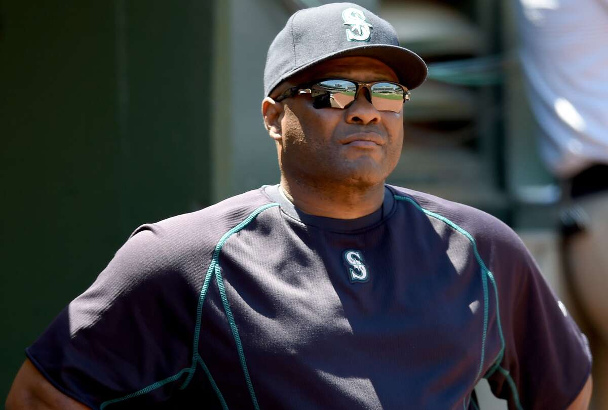 Manager Lloyd McClendon of the Seattle Mariners looks on from the dugout against the Oakland Athletics at O.co Coliseum on July 5, 2015. (Photo by Thearon W. Henderson/Getty Images)