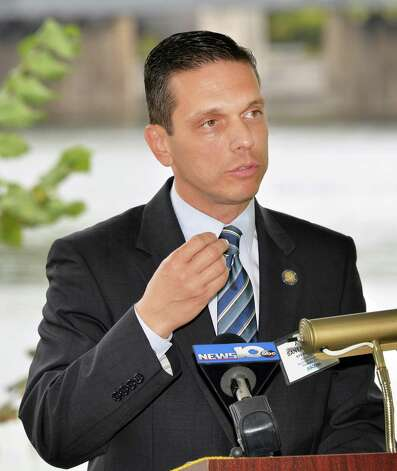 Assemblyman Angelo Santabarbara speaks during a news conference to present the New York Council of the American Society of Civil Engineers's 2015 Report Card for New YorkOs Infrastructure Tuesday Sept. 29, 2015 in Niskayuna, NY.  (John Carl D'Annibale / Times Union) Photo: John Carl D'Annibale / 00033533A