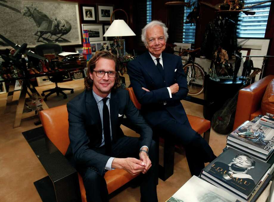 Designer Ralph Lauren, right, on Tuesday said he is handing the reins of his company to Stefan Larsson, global brand president for Old Navy. Photo: Jason DeCrow, FRE / FR103966 AP
