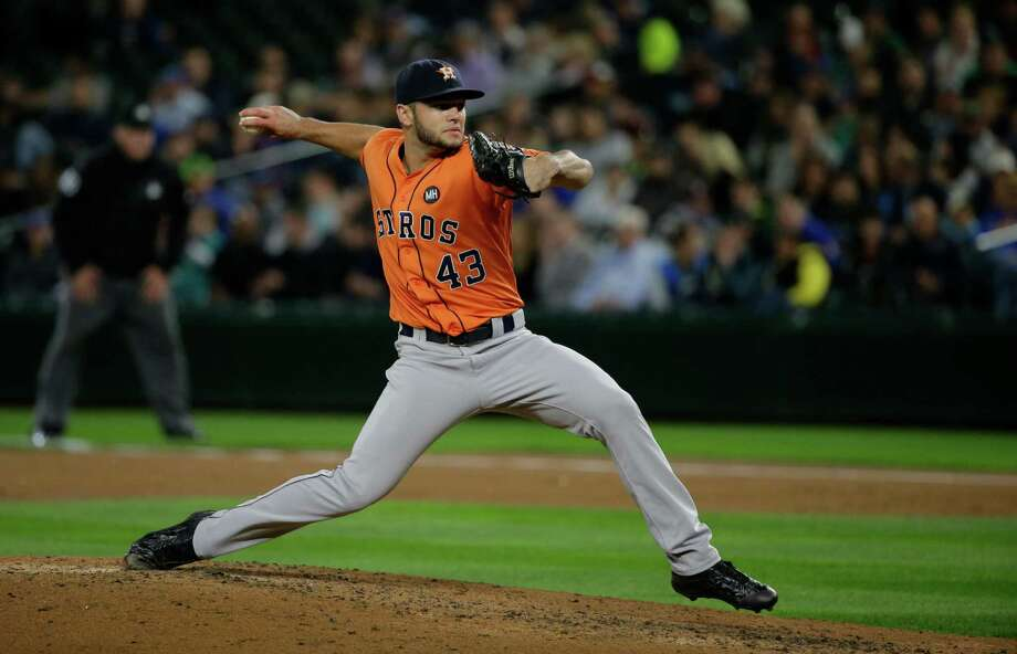 Houston Astros starting pitcher Lance McCullers throws against the Seattle Mariners during a baseball game, Monday, Sept. 28, 2015, in Seattle. (AP Photo/Ted S. Warren) Photo: Ted S. Warren, STF / AP