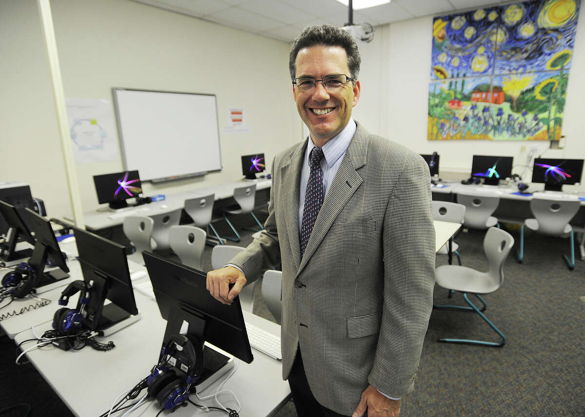 Principal Chris Weiss, one of five national finalists for the Bammy Award in the Innovator of the Year category, for bringing technology into the classroom at Riverside School in Greenwich, Conn. on Thursday, September 24, 2015.