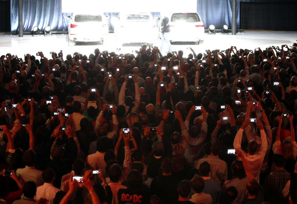 Elon Musk introduces Tesla's electric SUV, the Model X in Fremont, Calif., on Tuesday, September 29, 2015.