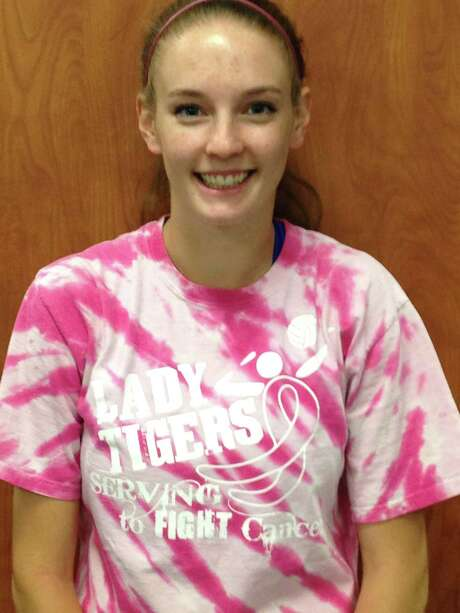 Keleigh Trabing plays for Silsbee's volleyball team. Photo: Enterprise Staff
