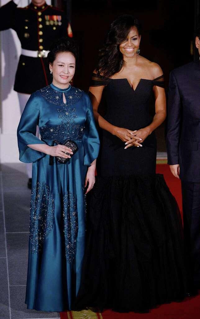 Michelle obama black dress vera wang