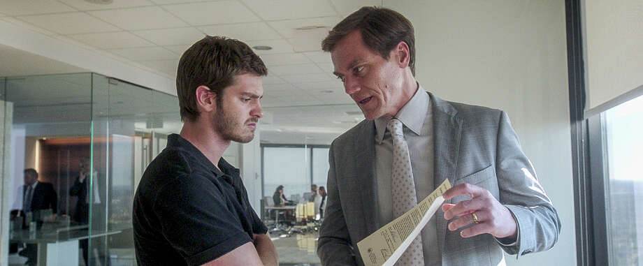 """Andrew Garfield (left) and Michael Shannon star in """"99 Homes,"""" which focuses on the evictions of Florida homeowners as the housing bubble bursts. Photo: Broad Green Pictures / © Broad Green Pictures"""