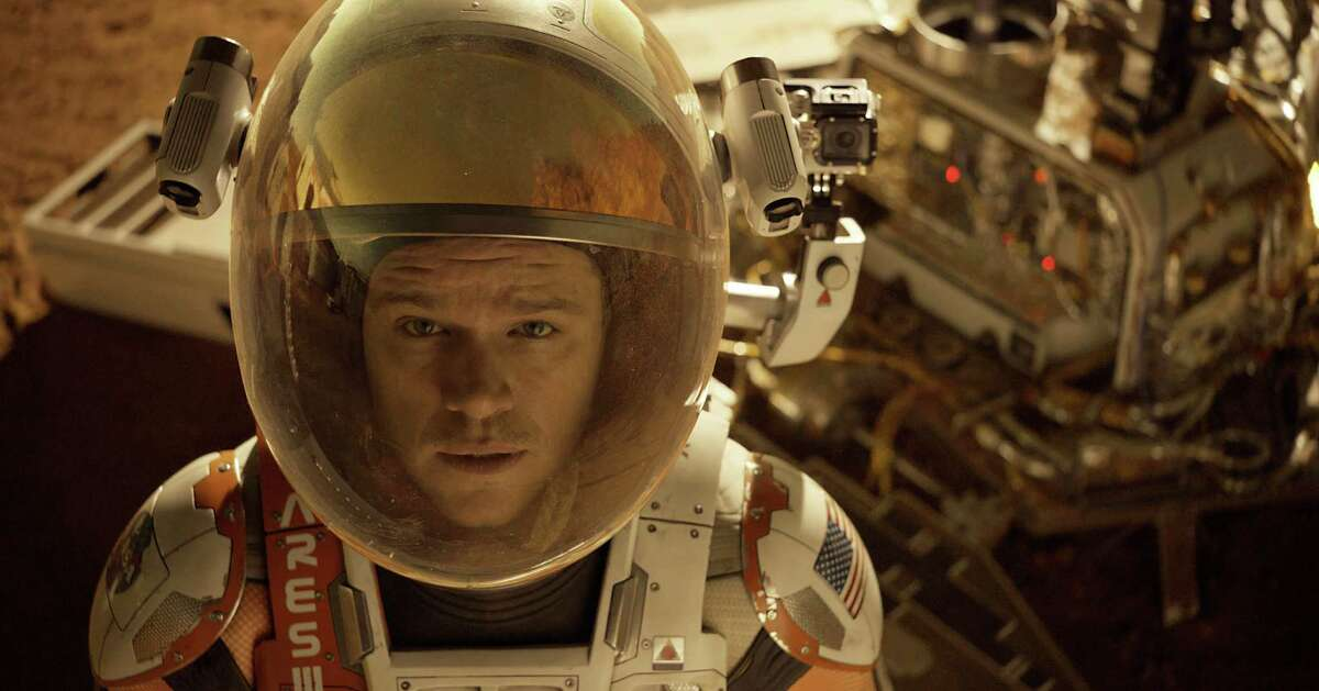 'The Martian' (2015) Astronaut Mark Watney (Matt Damon) is stranded on Mars when his fellow astronauts presume he's dead after a fierce storm and escape the planet without him. Alive and well, Watney must survive on the planet with few supplies. Meanwhile, NASA and his crew figure out he's alive and try to rescue him.