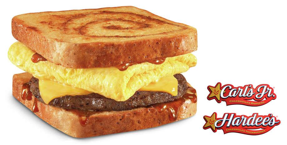 Cinnamon Swirl French Toast Breakfast Sandwich Photo: Carl's Jr.