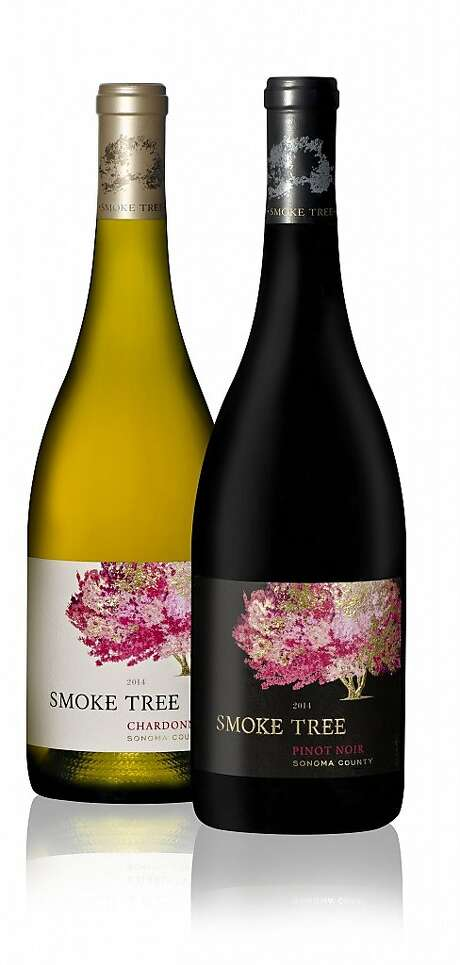 Smoke Tree Chardonnay and Pinot Noir, the newest brand from Moët Hennessy. Photo: Moët Hennessy