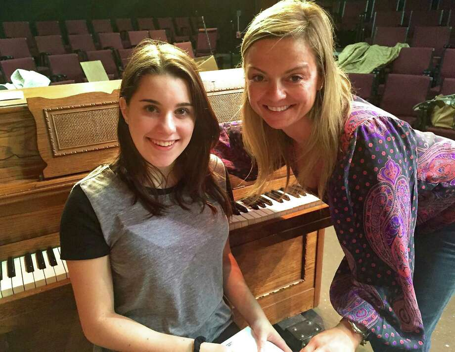 "Westport residents Deanna Hartog, left, and Samantha Pattinson share their talents in the season opener at the Westport Community Theatre, ""They're Playing Our Song,"" with performances through Sunday, Oct. 11. Photo: Contributed Photo"