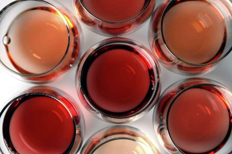 A selection of rosé wines Photo: Express-News File Photo / SAN ANTONIO EXPRESS-NEWS