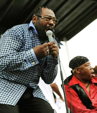 George Clinton, left, performs with Parliament-Funkadelic during Alive at Five on Thursday, June 27, 2013, at Riverfront Park in Albany, N.Y. (Cindy Schultz / Times Union) Photo: Cindy Schultz / 00022953A