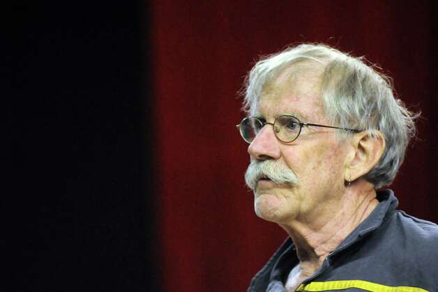 """John Sowle directs rehearsal for the play """"Grinder's Stand"""" at the Bridge Street Theatre on Saturday Sept. 26, 2015 in Catskill, N.Y.  (Michael P. Farrell/Times Union) Photo: Michael P. Farrell / 00033466A"""