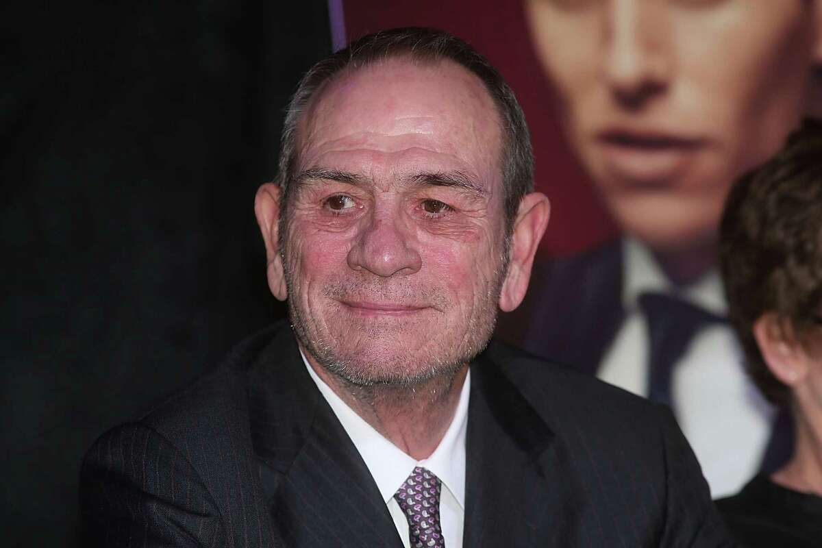 AUSTIN, TX - MARCH 12: Tommy Lee Jones speaks during the Austin Film Society's 15th Annual Texas Film Awards Press Conference at the Gibson Texas Showroom on March 12, 2015 in Austin, Texas.