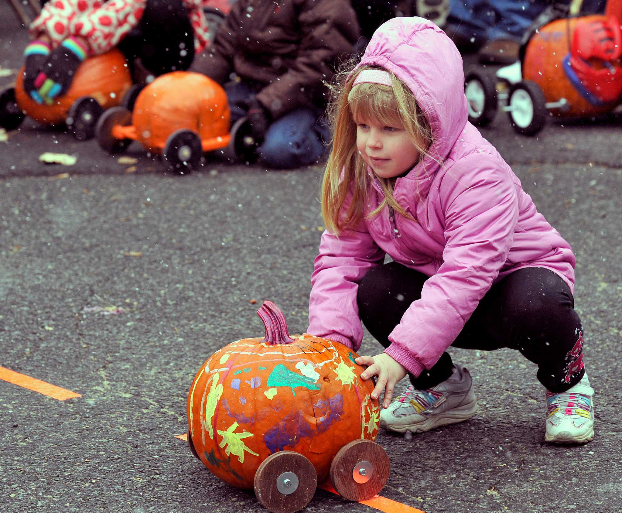 Preparing For The Great Newtown Lions Pumpkin Race