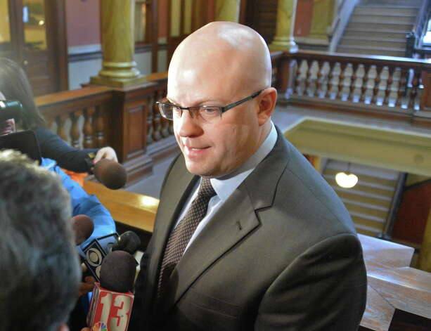 Rensselaer County District Attorney Joel Abelove speaks with reporters on Thursday Jan. 29, 2015, in Troy, NY.  (John Carl D'Annibale / Times Union) Photo: John Carl D'Annibale / 00030382A