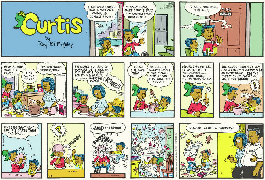 Curtis (1988 – Present) by Ray BillingsleyDrawing from his own experience as boy growing up in Harlem, Ray Billingsley brings welcome diversity to the comics pages with Curtis. It may not be the first comic to feature African-American characters, but Curtis is the most popular and most loved.