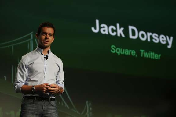 Jack Dorsey, co-founder & CEO, Square; co-founder & chairman, Twitter; speaks during the keynote at TechCrunch Disrupt SF 2012 at The Concourse at San Francisco Design Center on Monday, September 10, 2012 in San Francisco, Calif.
