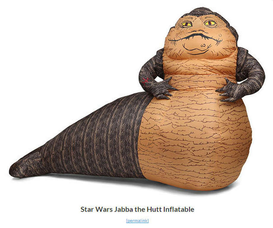 Retailers Think Geek are now offering a unique lawn holiday decoration - Jabba the Hutt from Star Wars. Photo: Think Geek Retailers