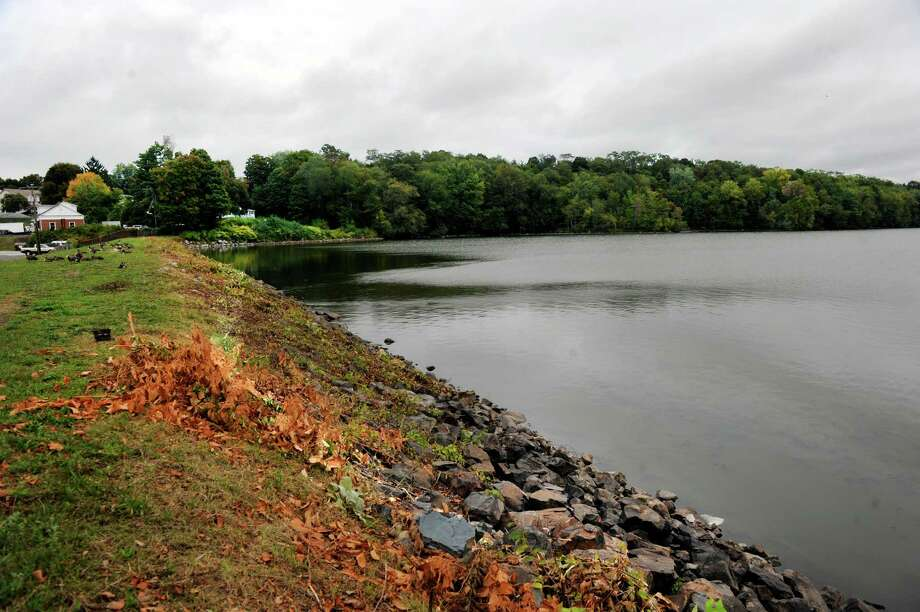 A group of area residents has proposed a 1.5-mile pedestrian trail along the Margerie Reservoir that would run along Route 37. Photo: Carol Kaliff / Hearst Connecticut Media / The News-Times