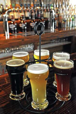 Beer sampler at Druthers Brewing on Thursday Aug. 6, 2015 in Albany, N.Y. (Michael P. Farrell/Times Union) ORG XMIT: MER2015081112481162 Photo: Michael P. Farrell / 10032919A