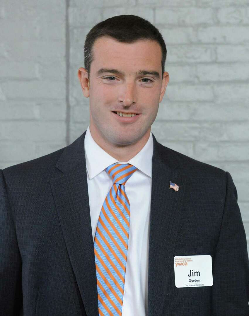Troy mayoral candidate Jim Gordon on Thursday, Aug. 20, 2015, in Troy, N.Y. (Michael P. Farrell/Times Union)
