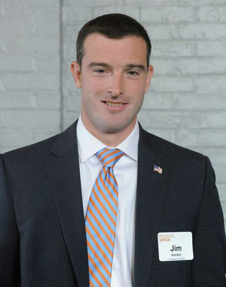 Troy mayoral candidate Jim Gordon on Thursday, Aug. 20, 2015, in Troy, N.Y.  (Michael P. Farrell/Times Union) Photo: Michael P. Farrell / 00033033A