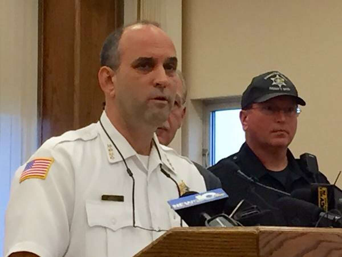 Schenectady County Sheriff Dominic Dagostino announces the the formation Wednesday of a new drug enforcement unit. (Skip Dickstein / Times Union)