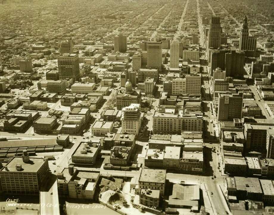 Aerial of Houston, shot 2-27-1938. Photo: Houston Chronicle / Houston Chronicle