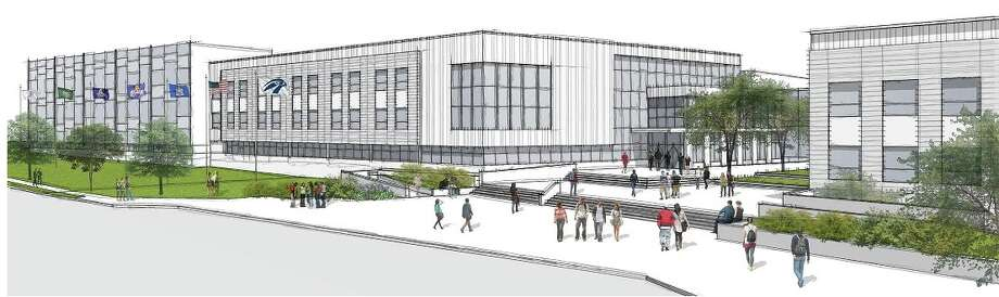 Rendering of the proposed Albany High School, which city voters will be asked to approve on Nov. 3.