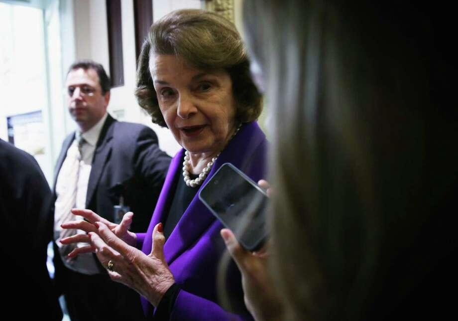 Sen. Dianne Feinstein, D-Calif.,  supports the Toomey plan. Photo: Alex Wong, Staff / 2014 Getty Images