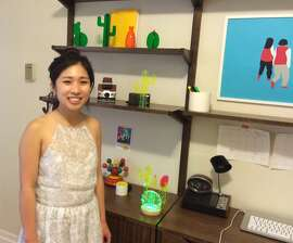 Nobel Truong, a UC Berkeley business graduate student, has launched lines of furniture, home decor and light pieces designed to fill small living spaces -- like her Nob Hill basement apartment.