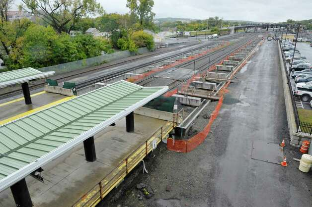 A view of the area where the current passenger platform ends and an extension is being built at the  Albany-Rensselaer Train Station, seen here on Wednesday, Sept. 30, 2015, in Rensselaer, N.Y.  The extended platform when completed will be able to accommodate several more passenger cars, an issue when longer trains such as the Lake Shore Limited are in the station.  (Paul Buckowski / Times Union) Photo: PAUL BUCKOWSKI / 10033567A