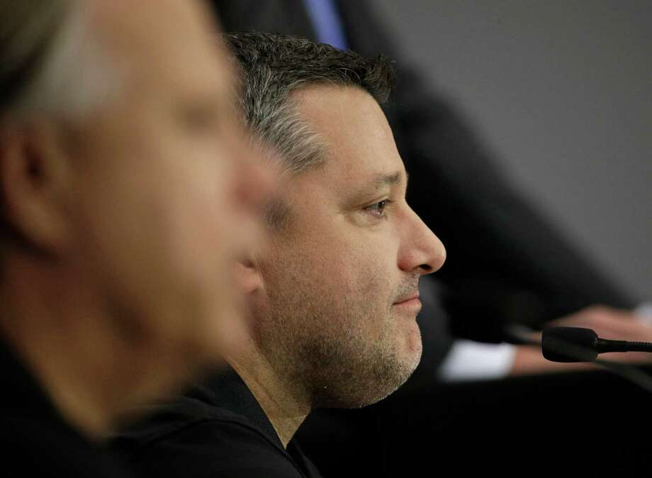 Three-time NASCAR champion Tony Stewart announces he will retire after the 2016 season during a news conference at Stewart-Haas Racing's headquarters in Kannapolis, N.C., Wednesday, Sept. 30, 2015. (AP Photo/Chuck Burton) ORG XMIT: NCCB107 Photo: Chuck Burton / AP