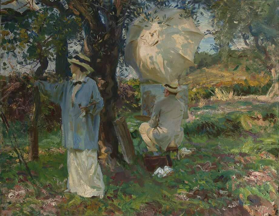 """John Singer Sargent's 1913 oil pianting """"The Sketchers"""" will be among the 200 works on view in the exhibition """"Jewel City: Art from San Francisco's Panama-Pacific International Exposition"""" at the de Young Museum.  Courtesy Fine Arts Museums of San Francisco Photo: Virginia Museum Of Fine Arts, Courtesy Fine Arts Museums Of Sa"""