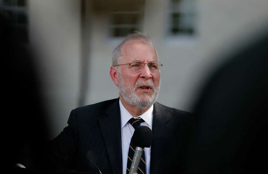 Attorney Eugene Fidell addresses the media at the conclusion of the first day of the Article 32 hearing for his client Sgt. Bowe Bergdahl at Joint Base San Antonio - Fort Sam Houston on Thursday, Sept. 17, 2015. (Kin Man Hui/San Antonio Express-News) Photo: Kin Man Hui, Staff / San Antonio Express-News / ©2015 San Antonio Express-News