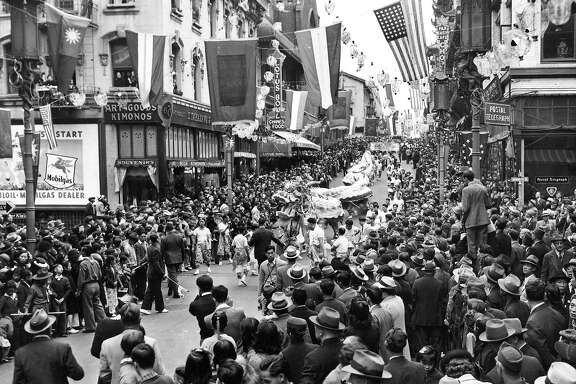 Chinese New Years parade in Chinatown  no date