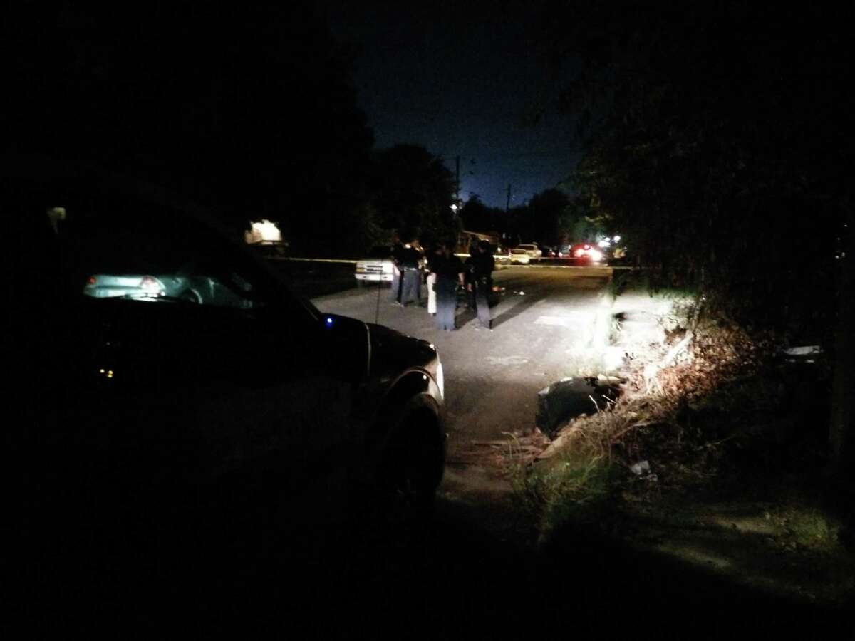 SAPD said a man between 40 and 50 years old was arguing in the road with another person before 10 p.m. in the 300 block of Huerta Street when he was shot in the chest by a shotgun.