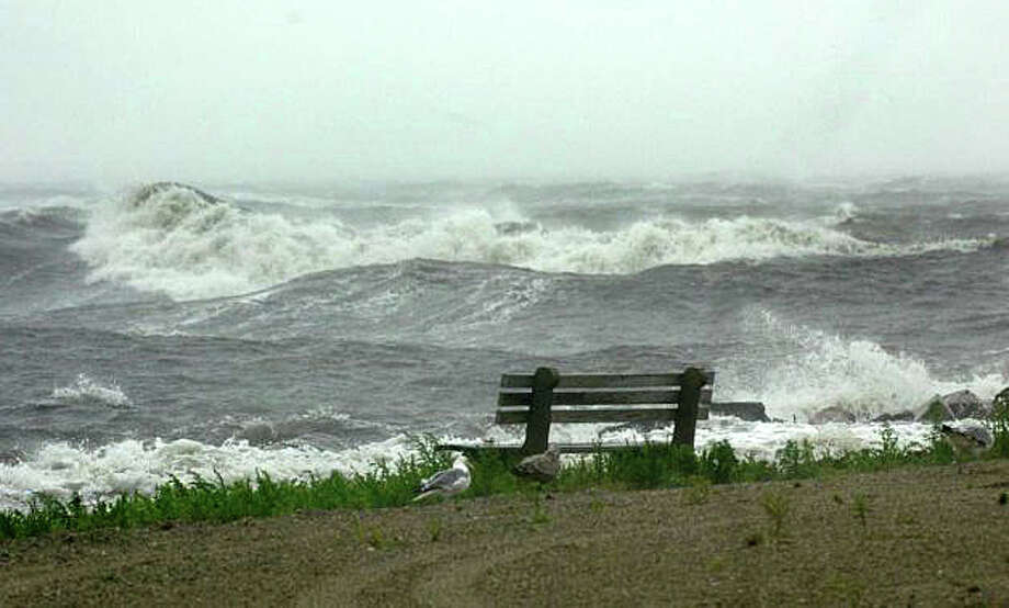 A punishing storm surge during Superstorm Sandy in October 2012 devastated the town's shoreline. Photo: File Photo / File Photo / Fairfield Citizen