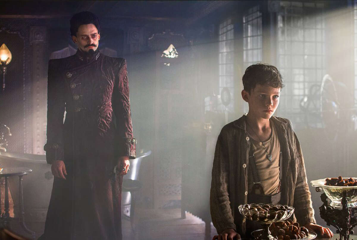 Hugh Jackman and Levi Miller in