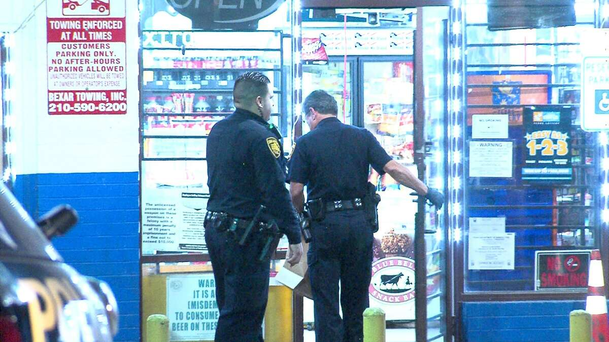 Robbery suspects opened fire on a convenience store clerk Thursday night on the Northwest Side.