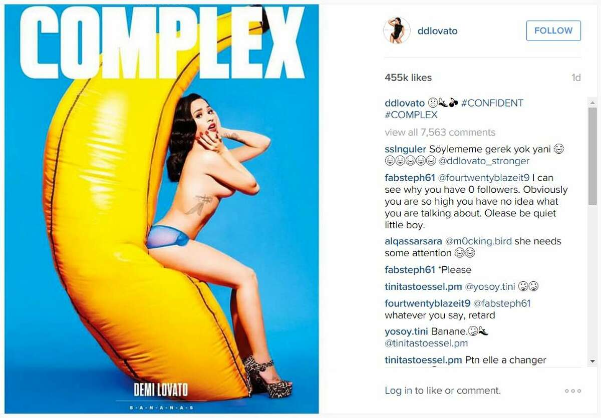 Demi Lovato had a racy photo shoot for her cover story with Complex magazine.