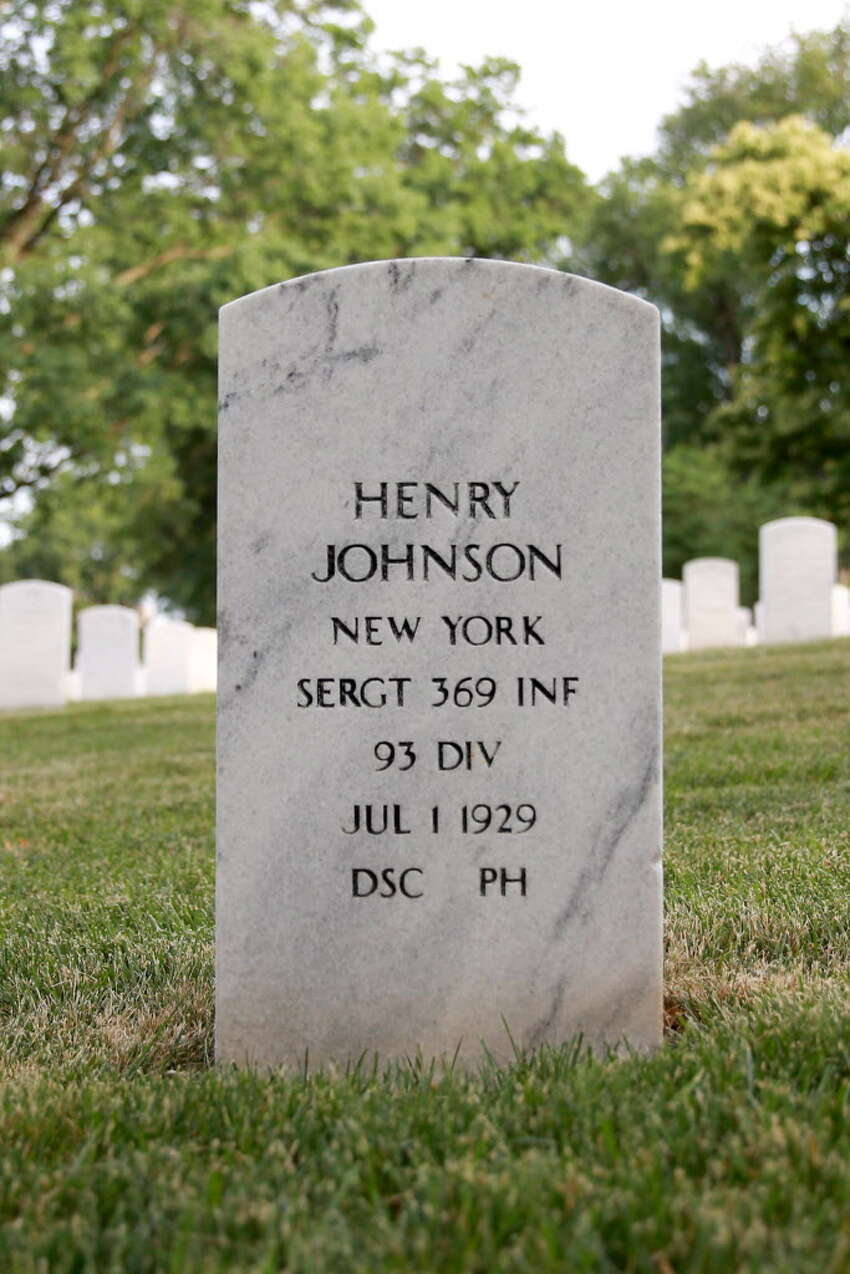 The grave of Henry Johnson at Arlington National Cemetery Sunday, May 31, 2015, in Arlington, Va. (Connor Radnovich/Times Union)
