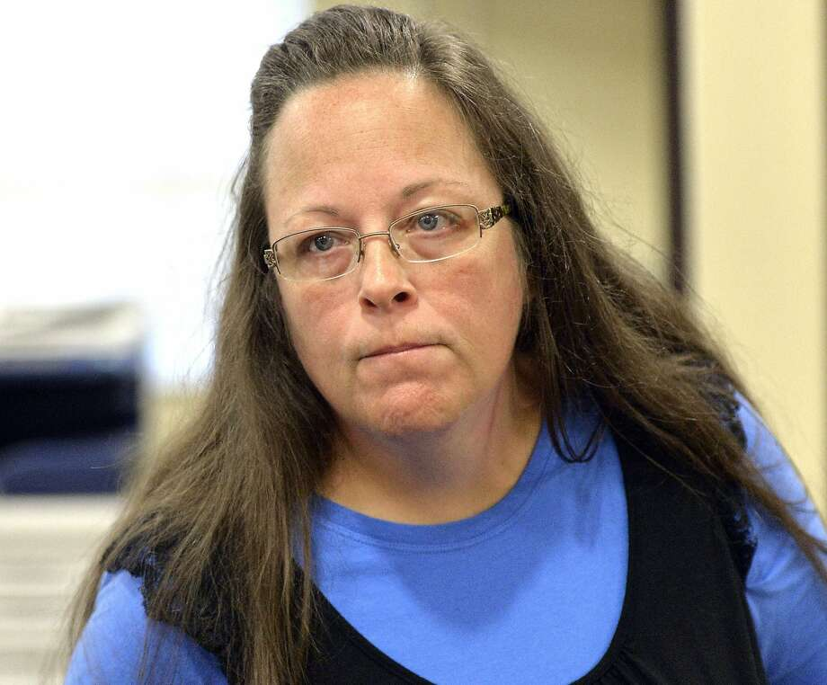 Kentucky county clerk Kim Davis met with Pope Francis. Photo: Timothy D. Easley, Associated Press