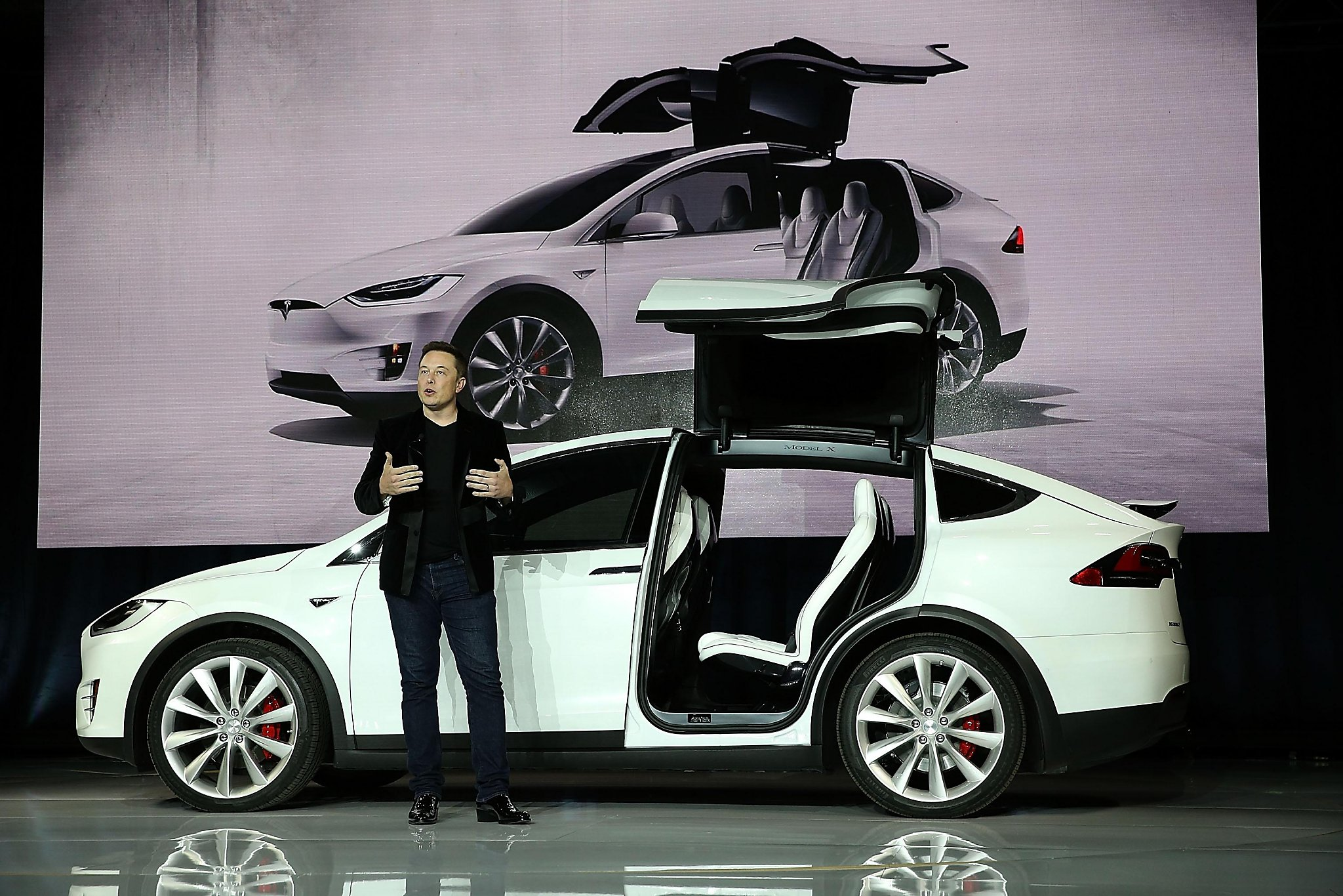 New tesla model x suv could get one hummer of a tax break san francisco chronicle