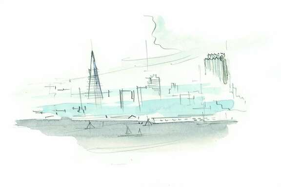 """A sketch by Andrea Ponsi from """"San Francisco: A Map of Perceptions,"""" courtesy of the University of Virginia Press."""