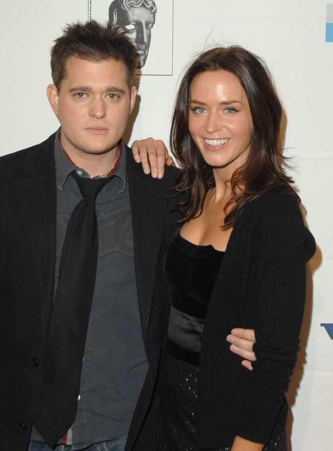 Michael Buble and actress Emily Blunt were a couple for three years. Photo: Jon Kopaloff, FilmMagic