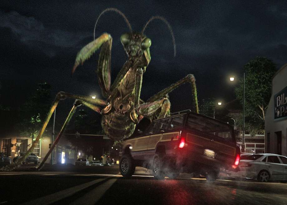 """The giant praying mantis is just one of the many creatures loosed from the pages of R.L. Stine's """"Goosebumps"""" book series when the movie opens Oct. 16. Photo courtesy Sony Pictures Entertainment. Photo: Sony Pictures"""